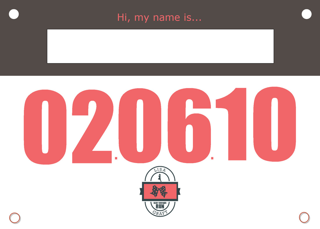 Race Bib Name Tag